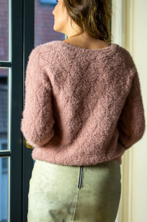 Fuzzy Gilet - Old Pink