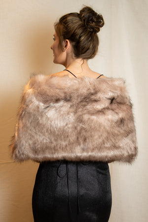 Fluffy Scarf - Old Pink