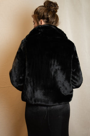 Teddy Coat - Black