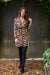 Autumn Dress - Khaki & Gold