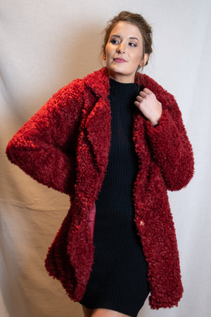 Snuggle Up Vest - Cerise Red