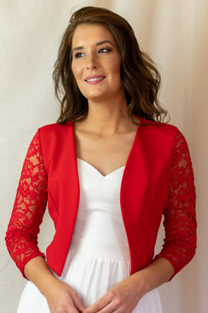 Perfect Vest - Red Lace
