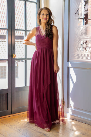 Empire Dress - Bordeaux