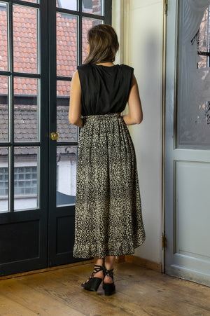 Animal Skirt - Black & Beige