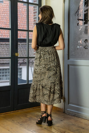 Leo Skirt - Black & Beige