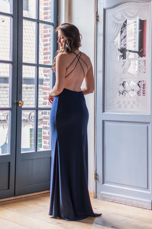That Back! Dress - Navy