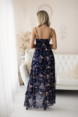 Wild Flower Dress - Tiny Bloom Black/ Navy