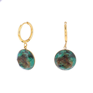Stone Earrings - African Turquoise