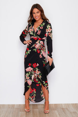 In Style Dress - Black & Red