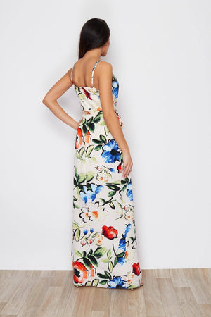 Pretty Perfect Dress - White Tropical