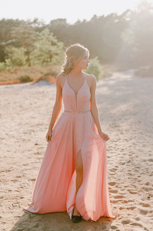 Jaw Dropping Dress - Old Pink