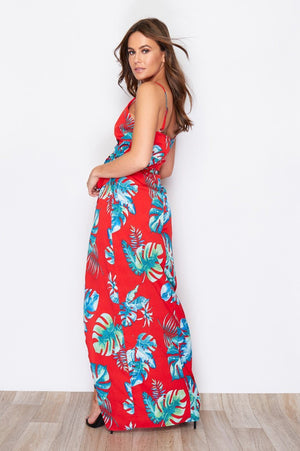 Pretty Perfect Dress - Red Tropical