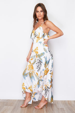 Summer Breeze Dress - Mustard Print