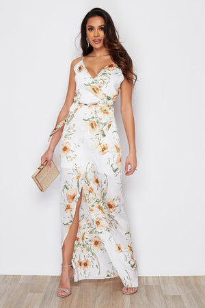 Pretty Perfect Dress - White & Yellow