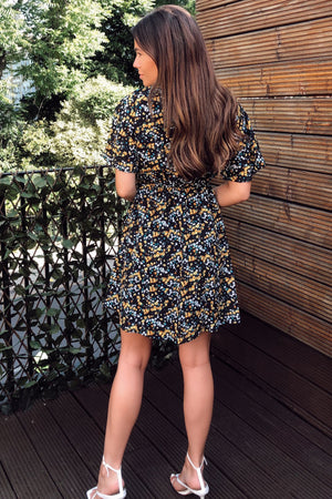 Ditsy Flower Dress - Black - Online Exclusive