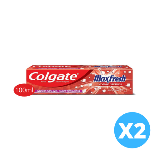 Colgate Max Fresh Spicy Gel Toothpaste 100ml x 2 pieces