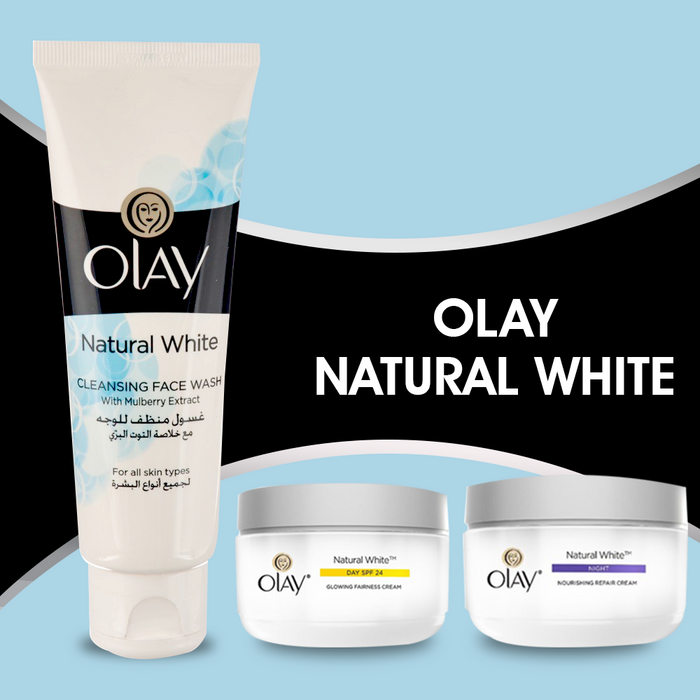 Olay Natural White Glowing Fairness Cream DAY SPF 24  (50 g)