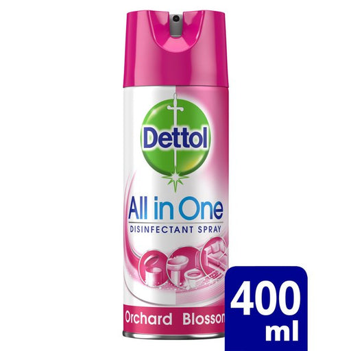 Dettol Disinfectant Spray Orchard Blossom 400ml (Made in Britain).