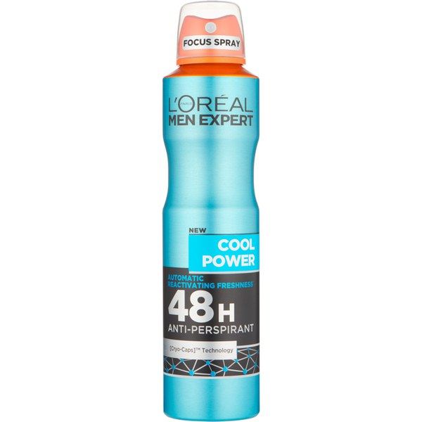 Loreal Men Expert Cool Power 48H Anti-Perspirant Deodorant 250ml  (Made in France). - Talabac