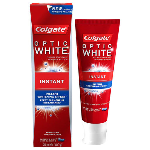 Colgate Optic White Instabt Whitening Toothpaste 75ml