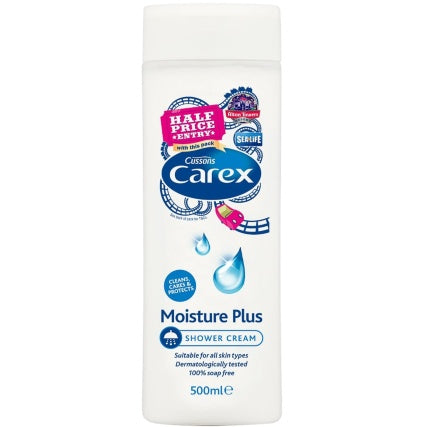 Carex Moisture Plus Shower Cream 500ml (Made in Britain) - Talabac