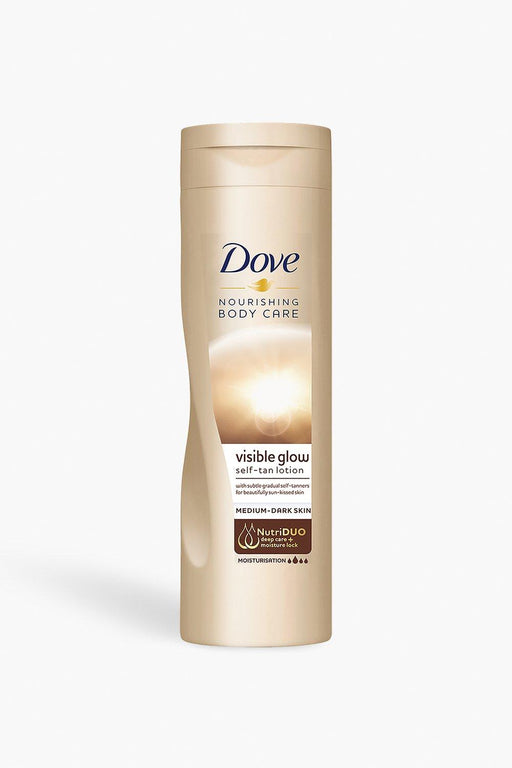 Dove Summer Glow Gradual Self Tan Body Lotion Medium To Dark 250 Ml = 500Ml (Made in Britain)