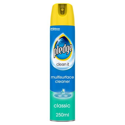 Pledge Clean It Multisurface Polish Cleaner Classic 250ml (Made in Britain).