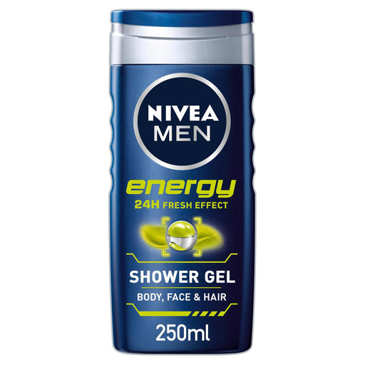 NIVEA MEN Shower Gel Energy Body Wash 250ml - Talabac