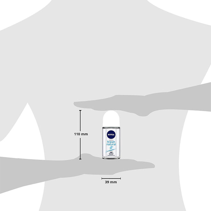 NIVEA Deodorant Roll On, Fresh Natural, 50ml (Made In Germany)