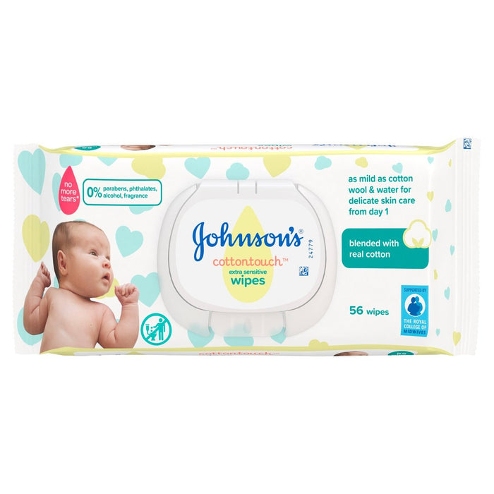Johnson's Baby Extra Sensitive Baby Wipes 4 Pack Of 224 Wipes