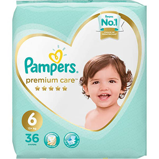Pampers Premium Care Diaper Size6 XL 13+kg Mega Pack 36Count