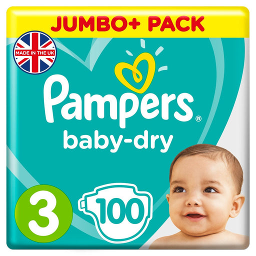 Pampers Baby-Dry Size 3 100 per pack, 6-10 kg (Made in Britain)