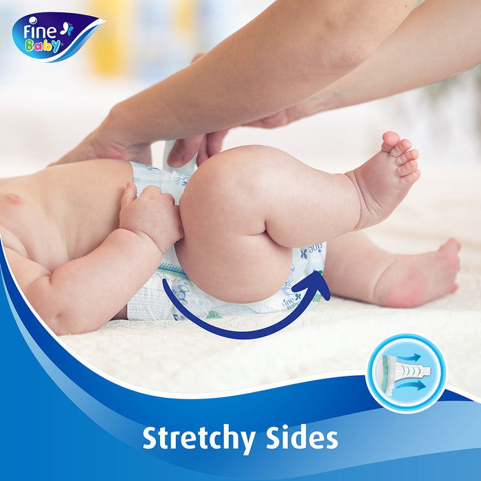 Fine Baby Diapers Mothers Touch Lotion, Size 3, Medium 4-9kg, Mega Pack, 84 Count