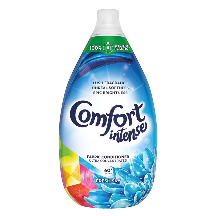Comfort Fabric Intense 60 Wash Fresh Sky Concentrated Fabric Conditioner 900ml