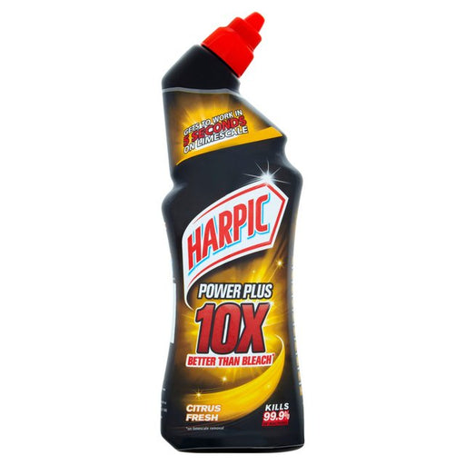 Harpic Power Plus Citrus Fresh Toilet Cleaner Gel 750ml (Made in Britain).