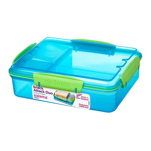 Sistema Snack Attack Duo To Go 975ml Blue - Talabac