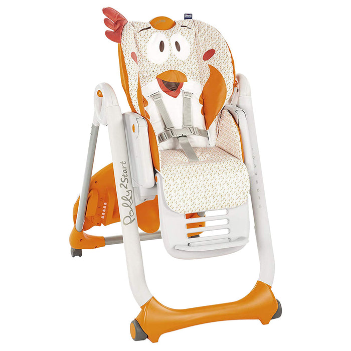 Chicco - Polly 2 Start 4 Wheel Highchair - Fancy Chicken