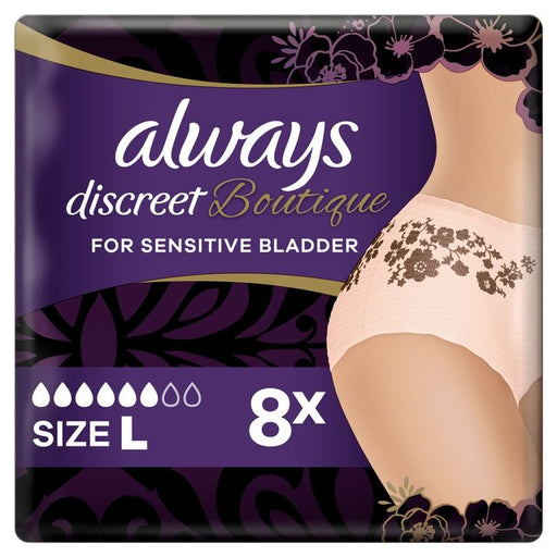 Always Discreet Boutique Incontinence Underwear - Size: L
