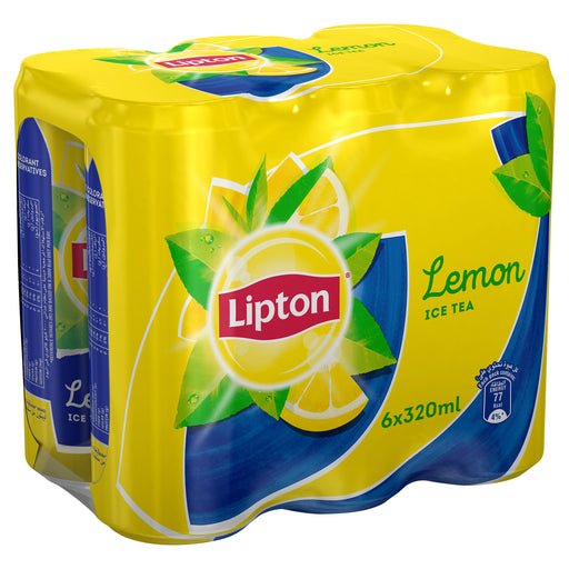 Lipton Ice Tea, Non-carbonated Iced Tea Drink, Lemon, 6 x 320 ml
