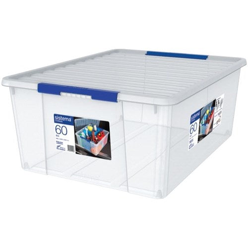 Sistema Storage Bin With Lid 60 Litre