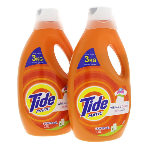 Tide Automatic Power Gel Original Scent 1.8L Pack of 2-Pieces (2 x 1.8 L)