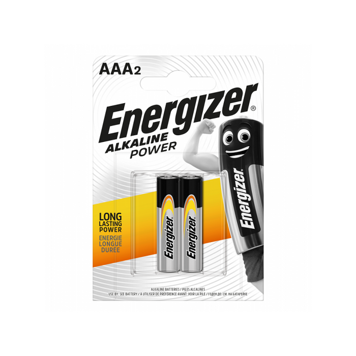 Energizer AAA alkaline power 2 pack