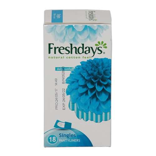 Freshdays natural cotton feel singles 18's