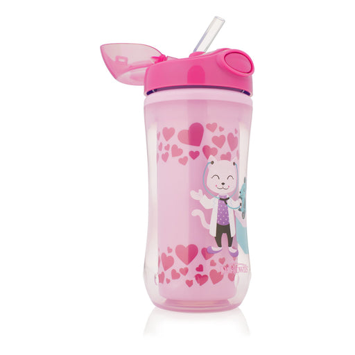 Dr. Brown's Insulated Straw Cup - Pink 350ml (12m+) - Talabac