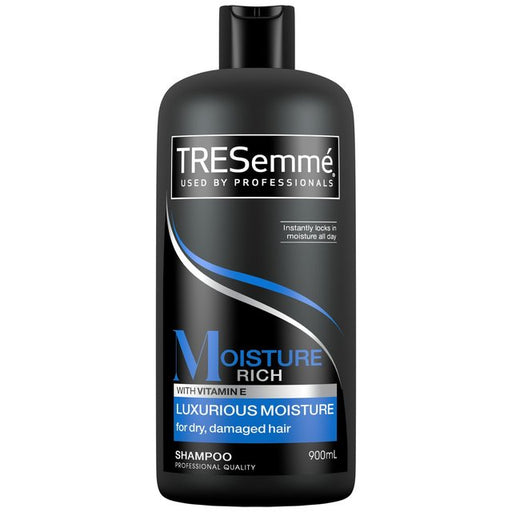 TRESemmé Moisture Rich Shampoo Luxurious Moisture 900ml (Made in Britain).