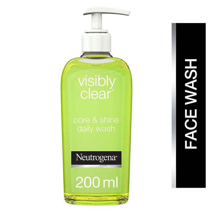 Neutrogena Face Wash, Visibly Clear, Pore & Shine, 200ml