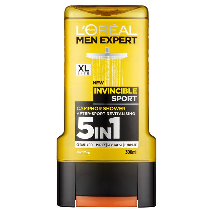 L'Oreal Men Expert Invincible Sport Shower Gel 300ml (Made in France).