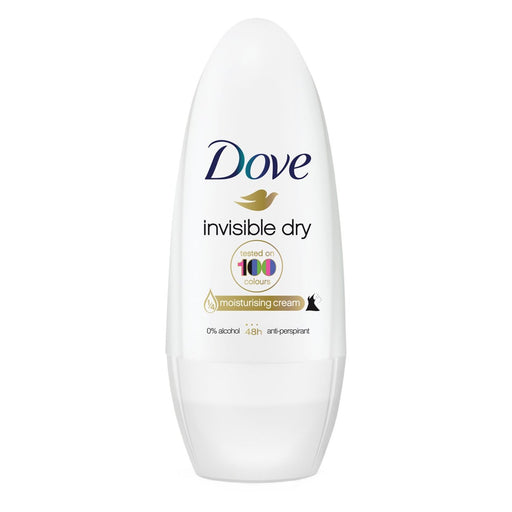 Dove Invisible Dry Roll-On Anti-Perspirant Deodorant 50ml (Made in Britain).