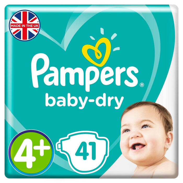 Pampers Active Baby Dry Diapers, Size 4+, Mega Pack 9-15 kg, 41 Count