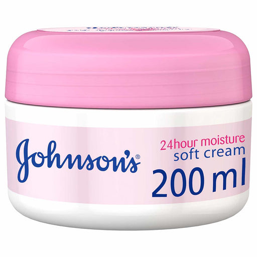 JOHNSON'S - Body Cream 24 HOUR Moisture, Soft 200ml